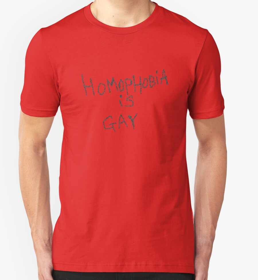 gay t shirts Homophobia is