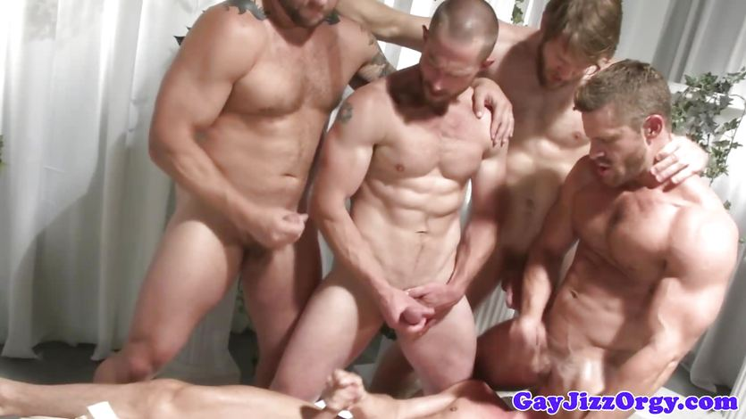 Group male gay sex