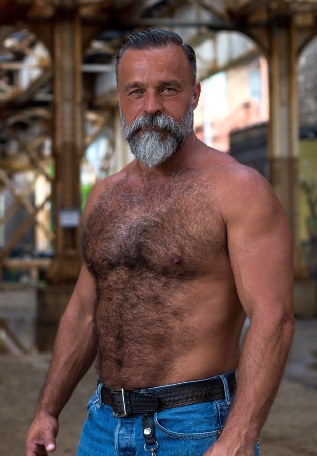 Chest gay hairy man
