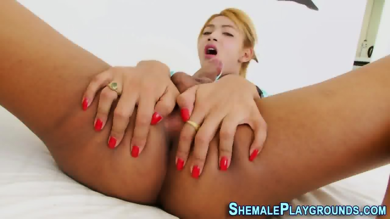 stroking trannies cocks of Pics their