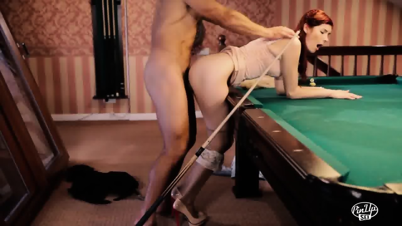 Shemale fucked on pooltable