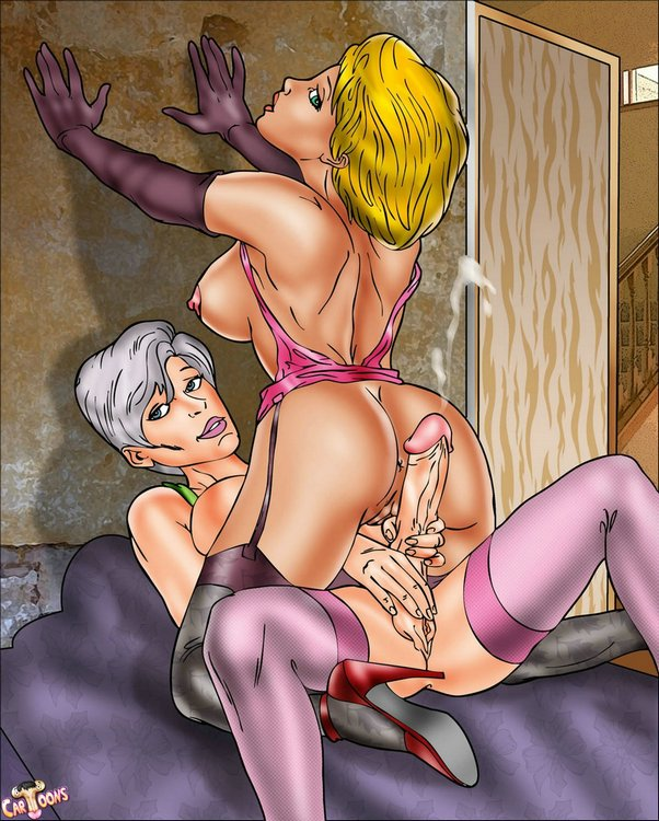 cartoon galleries Shemale sex