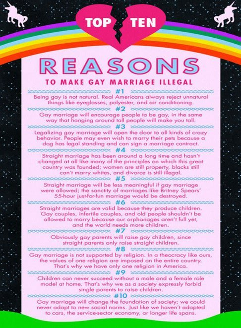 gay Ten against to reasons marriage be